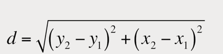Distance formula used in OCR